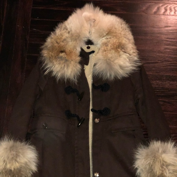 Marc By Marc Jacobs Jackets & Blazers - Marc by Marc Jacobs Coyote Fur-lined fleece